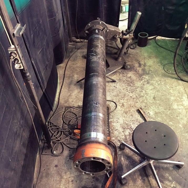 Hydraulisylinterin putken hitsaus